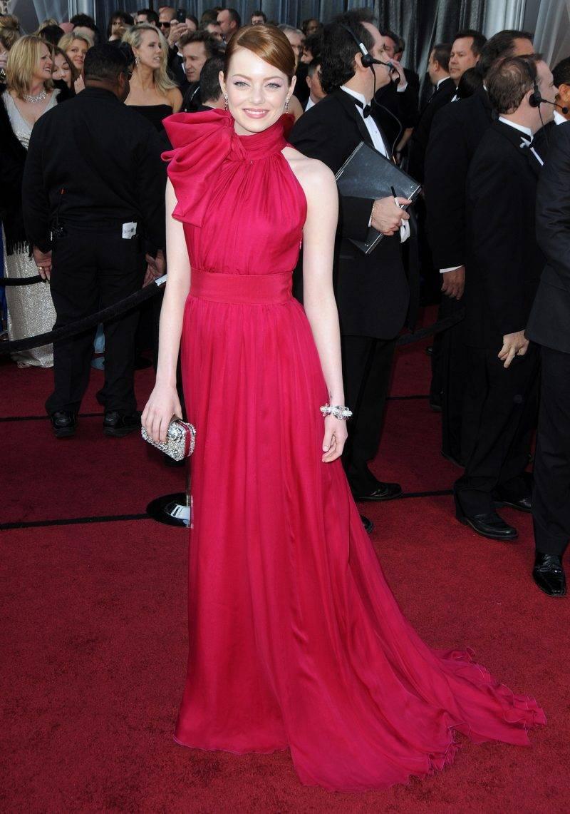 Emma Stone i Giambattista Valli haute couture på Oscarsgalan 2012