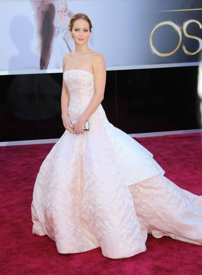 Jennifer Lawrence i Dior Couture på Oscarsgalan 2013