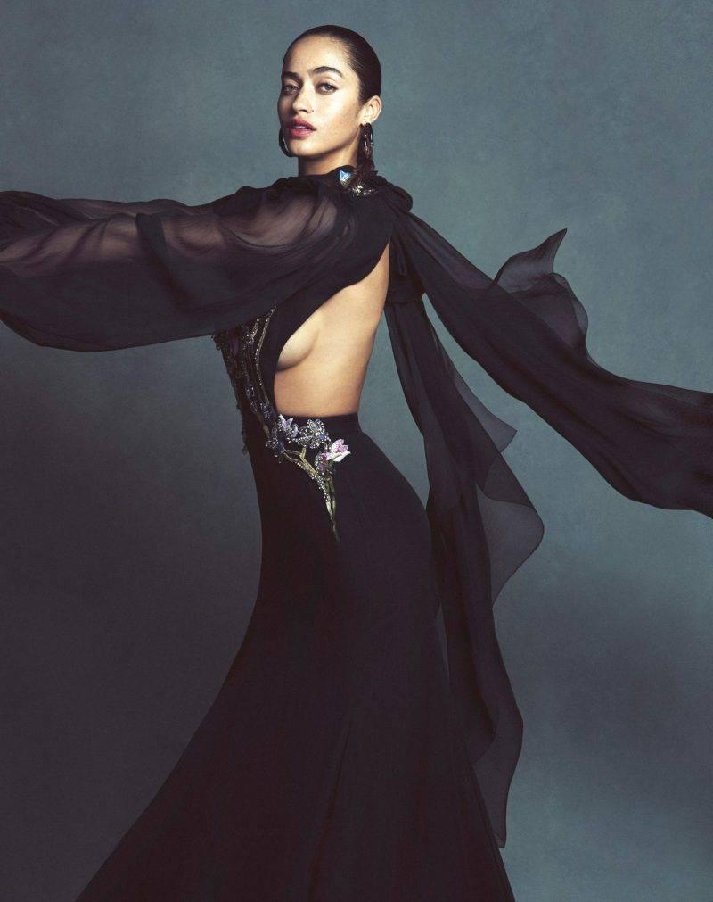 Festklänningar, svart långklänning från Alexander McQueen
