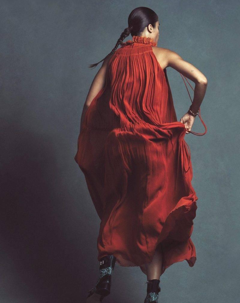 Festklänning, vinröd klänning från Chloé