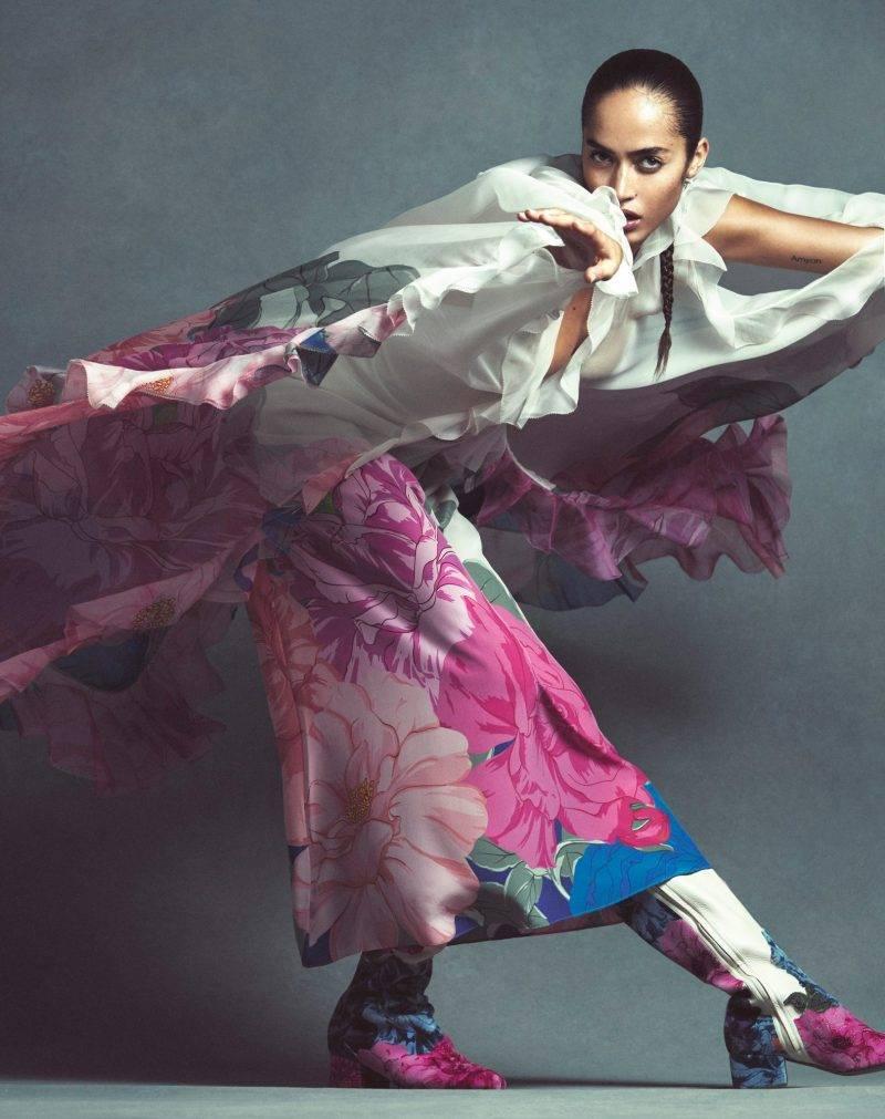 Festklänningar, blommig klänning och kaftan från Valentino