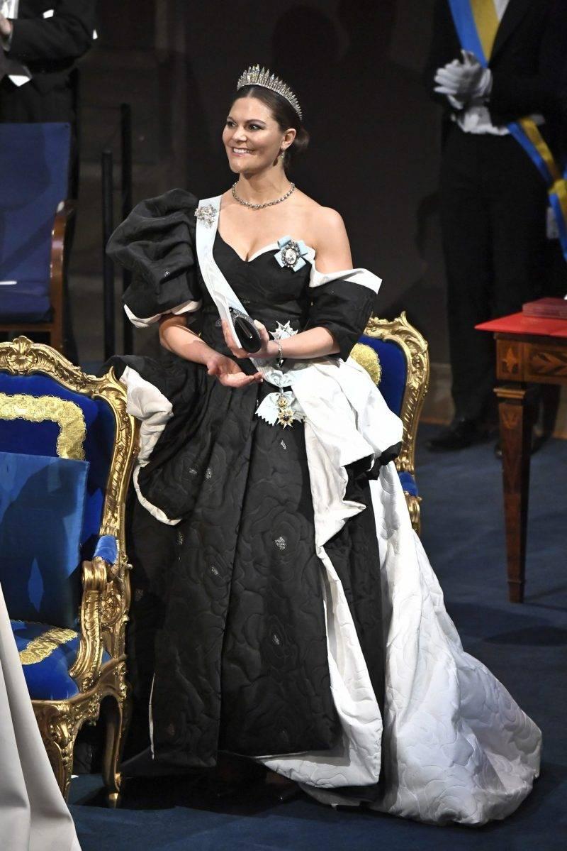 Kronprinsessan Victorias Nobelklänning 2019