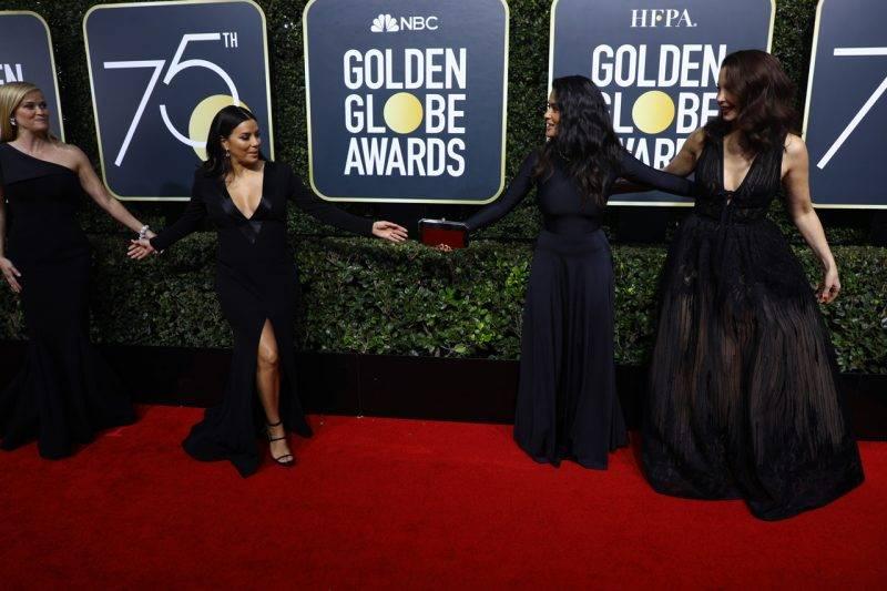 Svarta outfits på Golden Globe