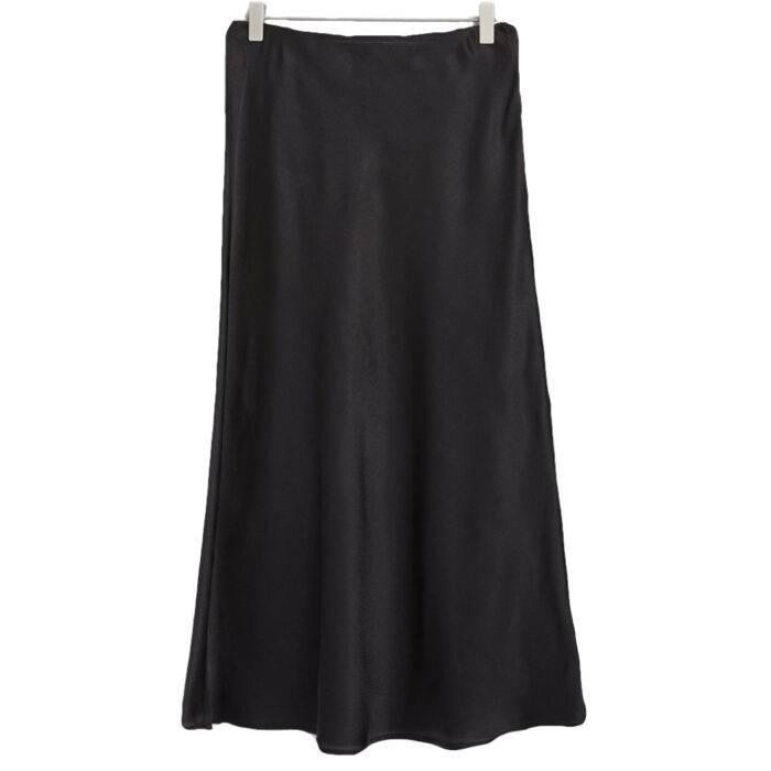 Glansig medellång kjol från lindex.