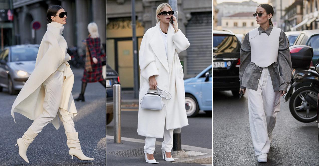 Trendigt vintervitt mode 2019