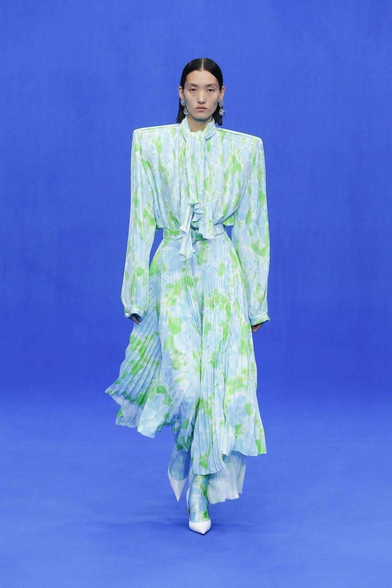 Blommig klänning från Balenciaga