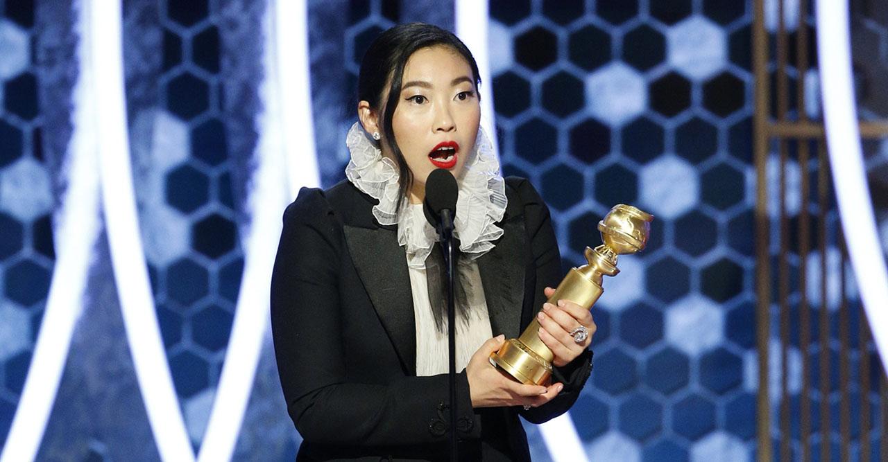 Awkwafina på Golden Globe 2020