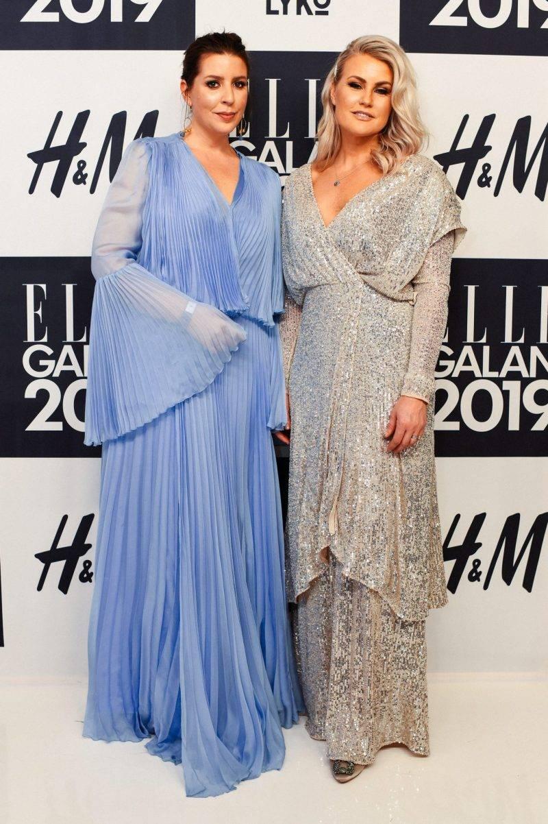 Emma Unckel och Frida Fahrman på röda mattan på ELLE-galan 2019