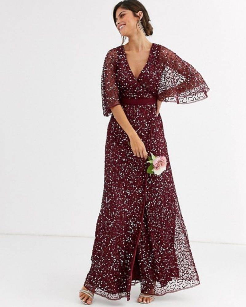 Glittrig balklänning från Asos