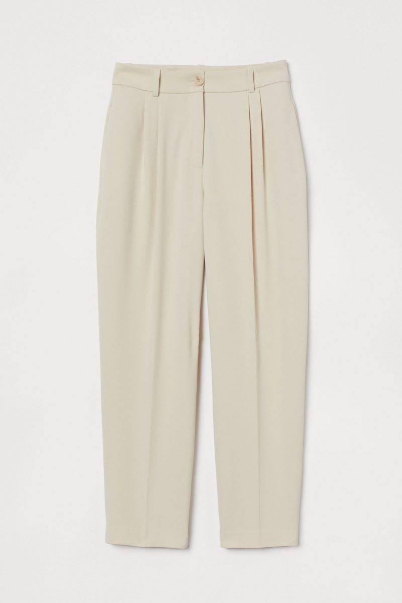 Ljusa byxor med hög midja från H&M.