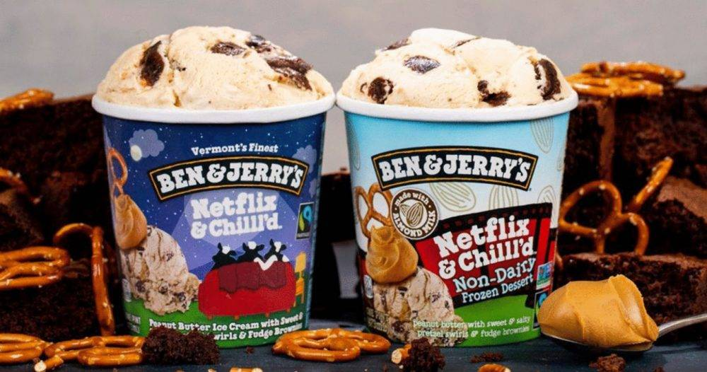 Ben & Jerry's lanserar en glass i samarbete med Netflix.