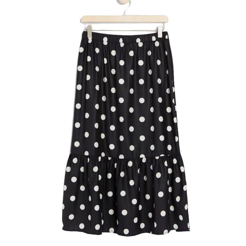 Prickig medellång kjol från lindex