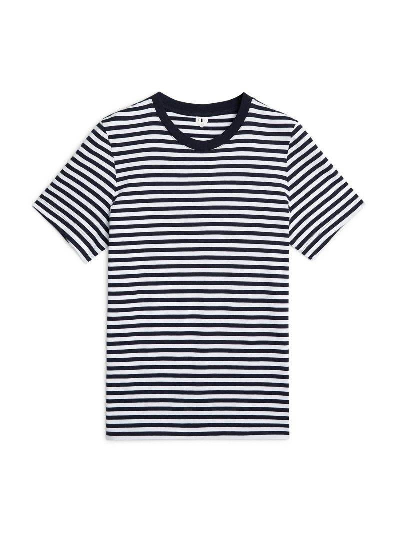 Blå/vit-randig T-shirt från Arket.