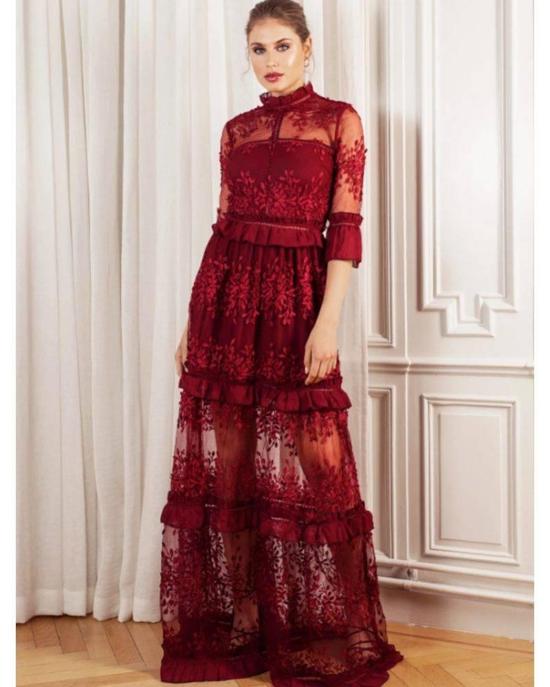 Röd maxiklänning från By Malina