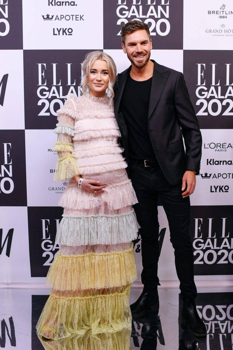 Ellen Bergström och Niclas Lij på röda mattan på elle-galan 2020