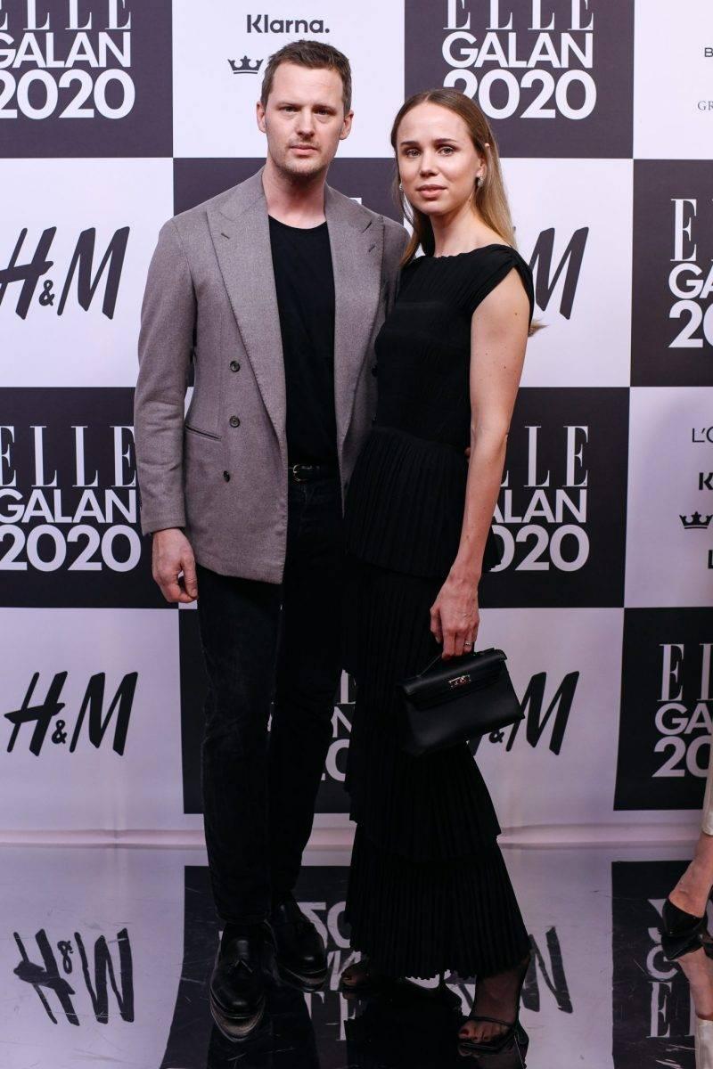 Karl Lindman och Elin Kling på röda mattan på elle-galan 2020