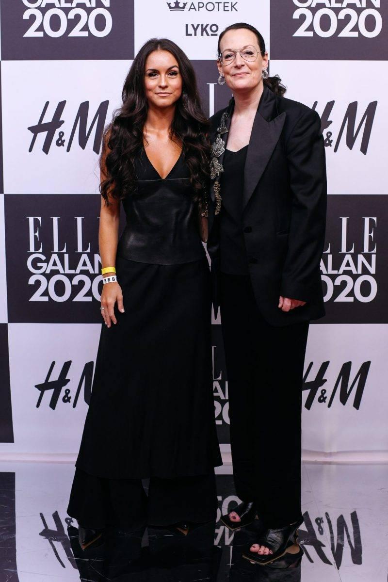 Amanda Borgfors Mészàros och Cia Jansson på röda mattan på elle-galan 2020