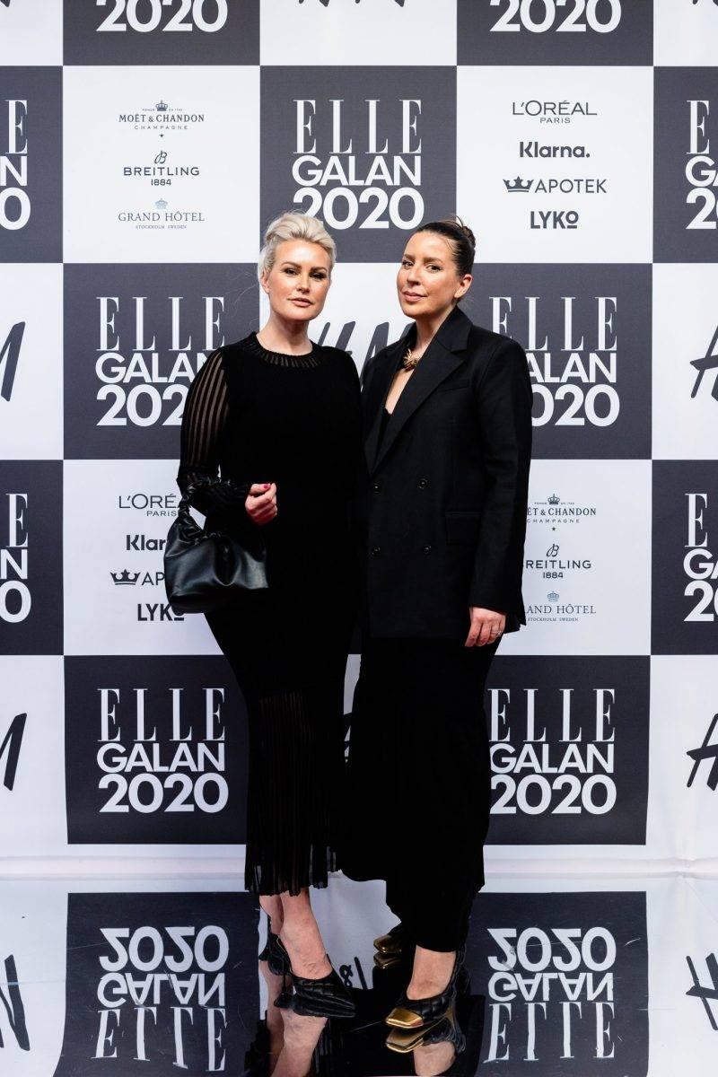 Frida Fahrman och Emma Unckel på röda mattan på elle-galan 2020
