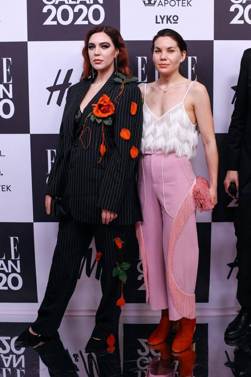Beatrice Eli och Ida Klamborn på röda mattan på elle-galan 2020