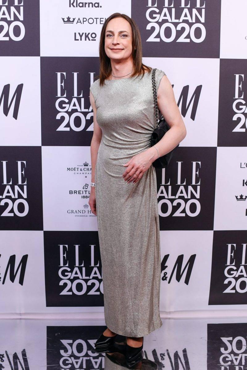 Caroline Farberger på röda mattan på elle-galan 2020