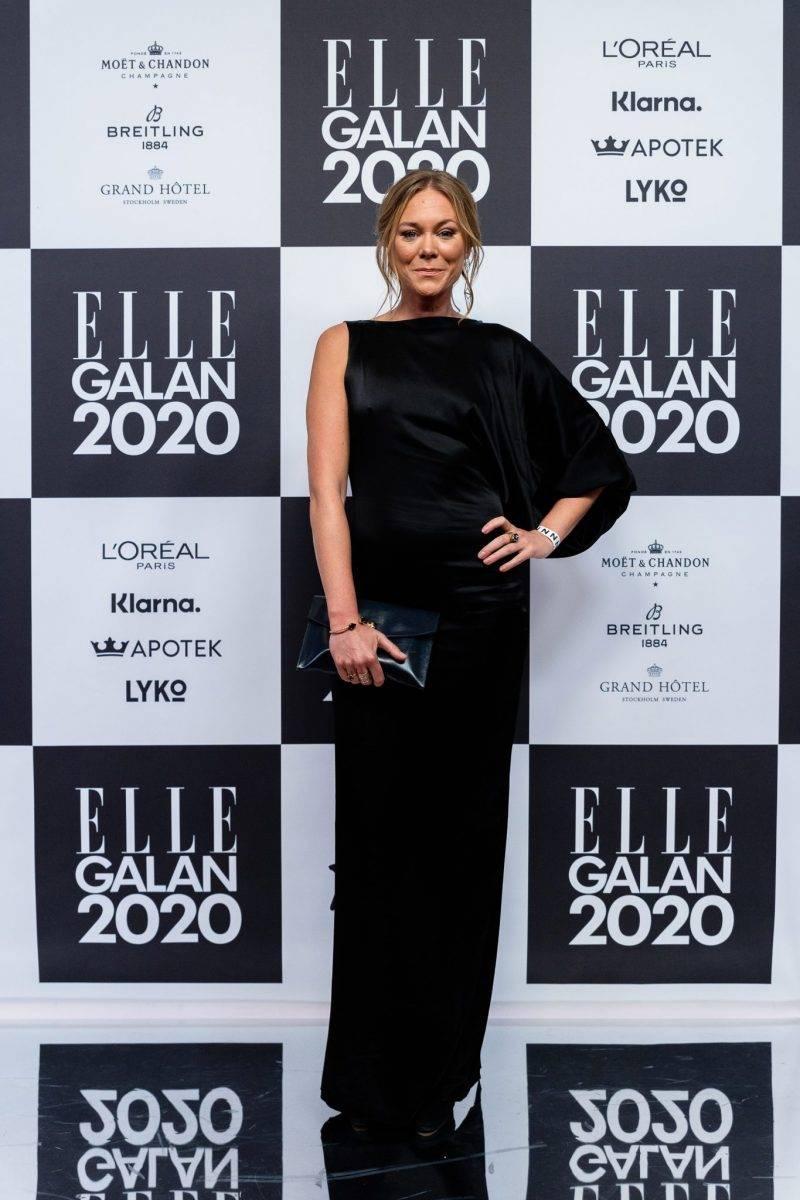 Maya Samuelsson på röda mattan på elle-galan 2020