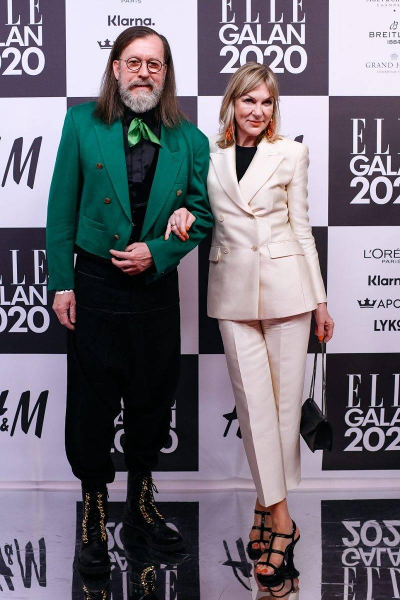 Susanne Ljung på röda mattan på elle-galan 2020