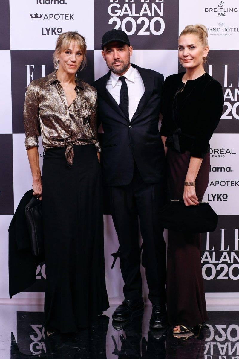Emma Wiklund och Mikael Schiller på röda mattan på elle-galan 2020