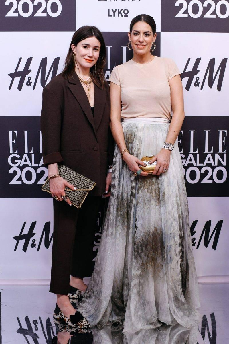Nina Campioni på röda mattan på elle-galan 2020