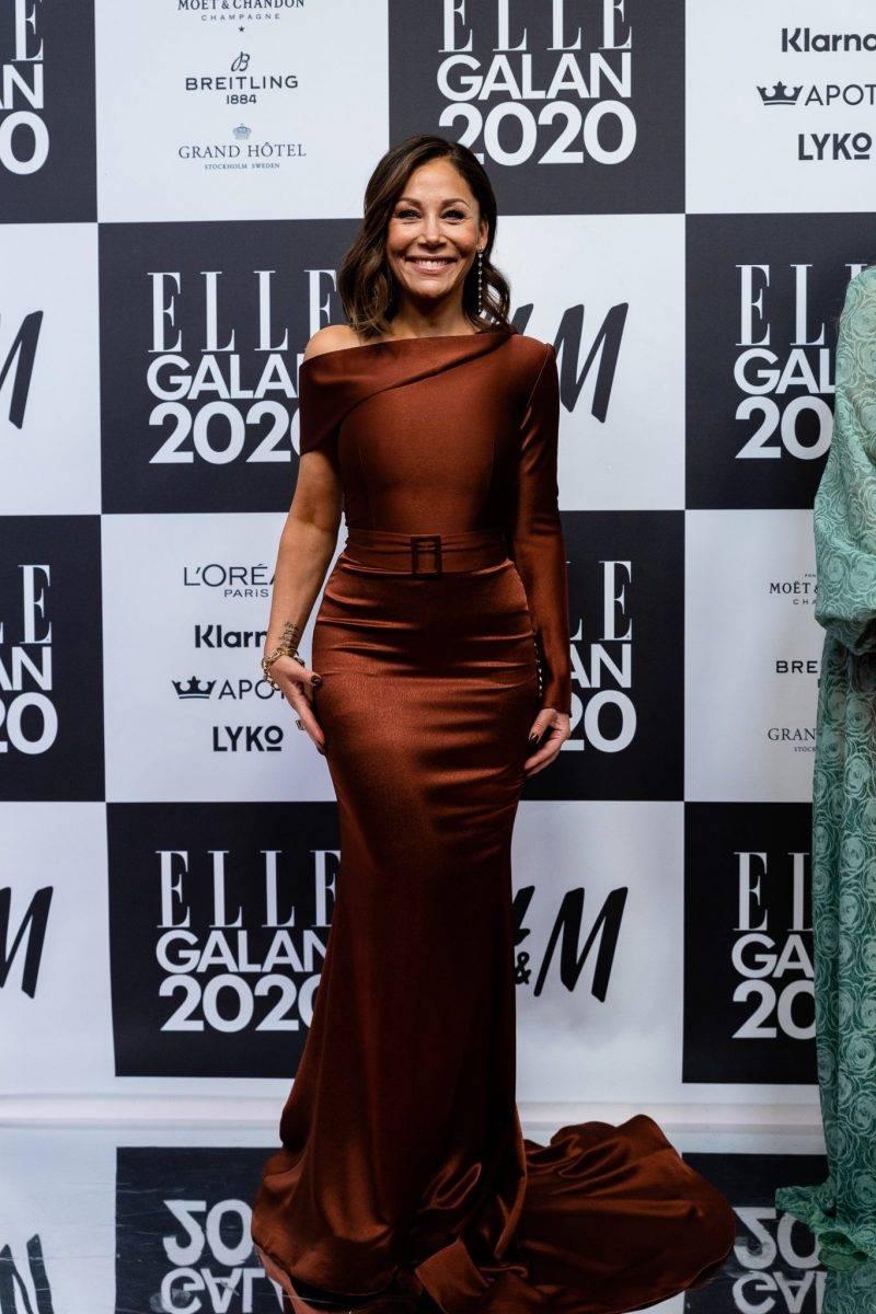 Tilde de Paula på röda mattan på elle-galan 2020