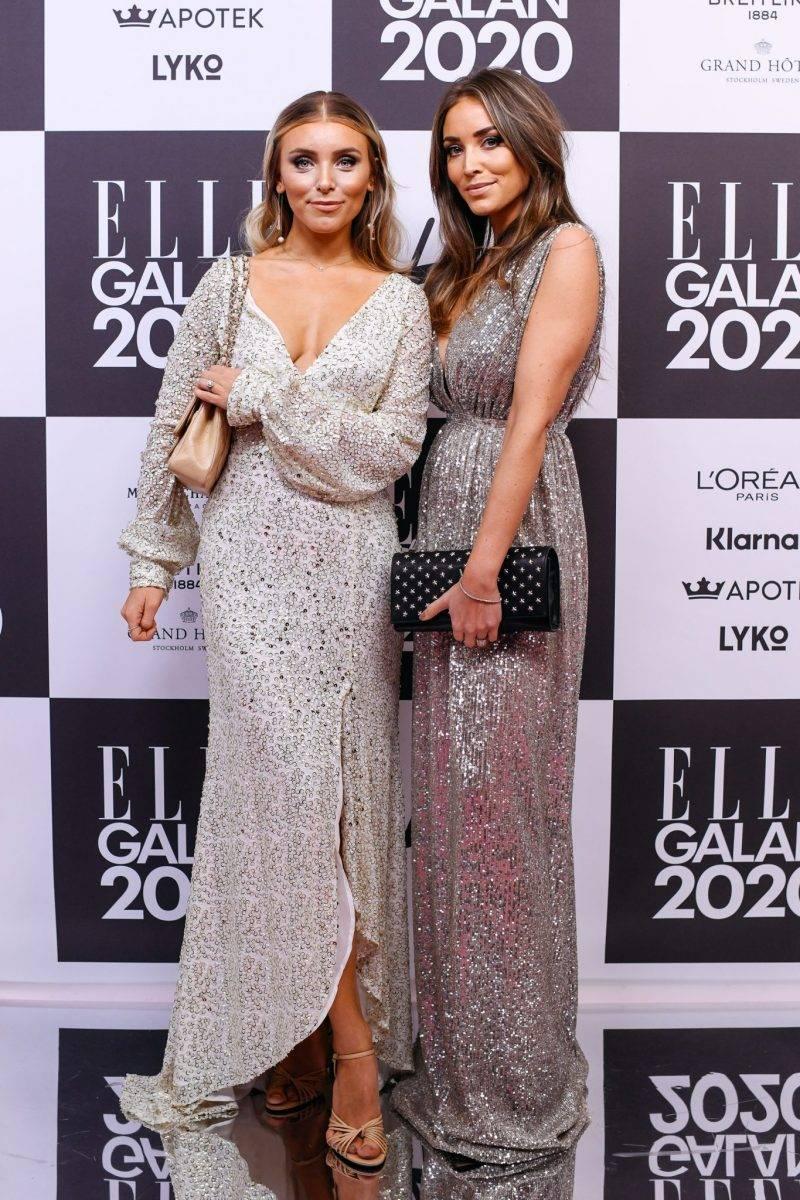 Sanne Josefson och Michaela Delér på röda mattan på elle-galan 2020