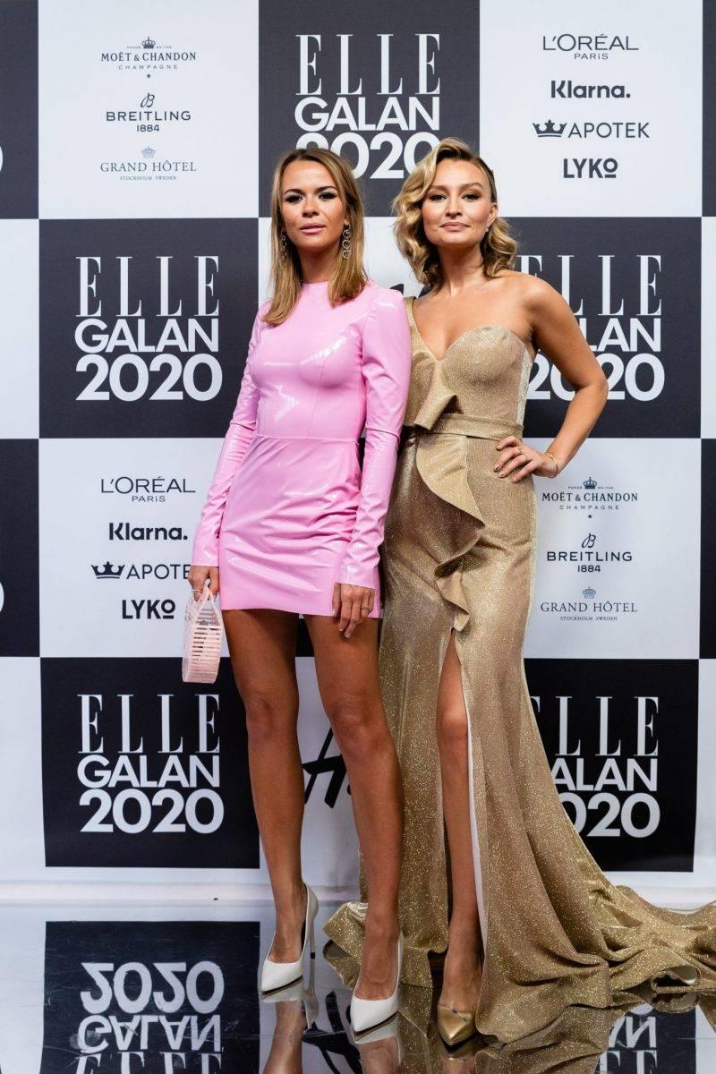 Margaux Dietz och Ebba Busch på röda mattan på elle-galan 2020