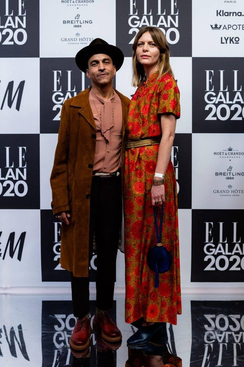 Jason Diakité och Amelie Coyet på röda mattan på elle-galan 2020