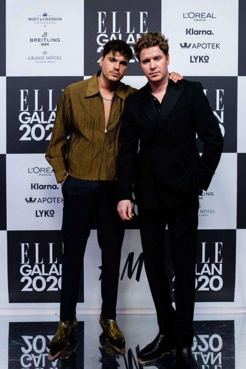 Oscar Zia och Martin Hansson på röda mattan på elle-galan 2020