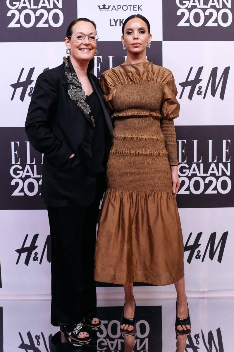 Cia Jansson och Pauline de Sera på röda mattan på elle-galan 2020
