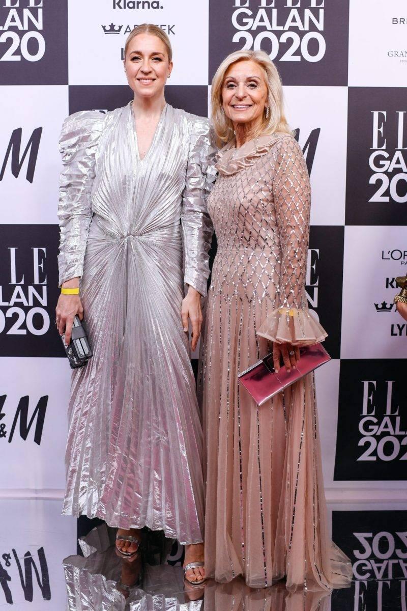 Emilia de Poret på röda mattan på elle-galan 2020