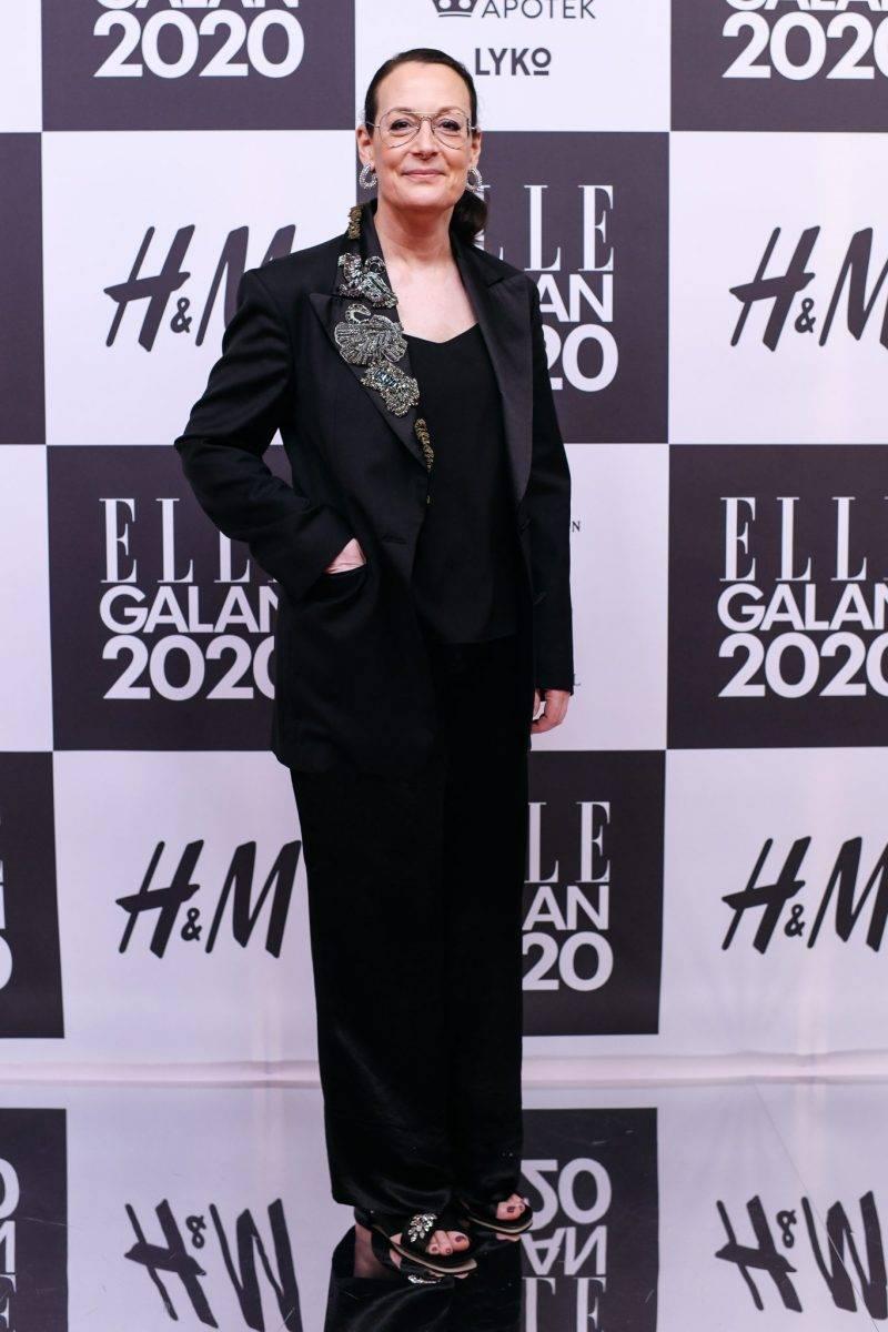 Cia Jansson på röda mattan på elle-galan 2020
