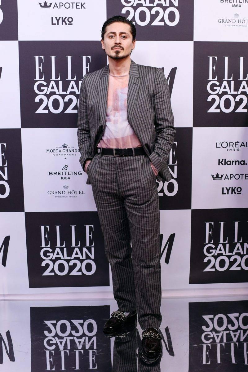 Alexej Manvelov på röda mattan på elle-galan 2020
