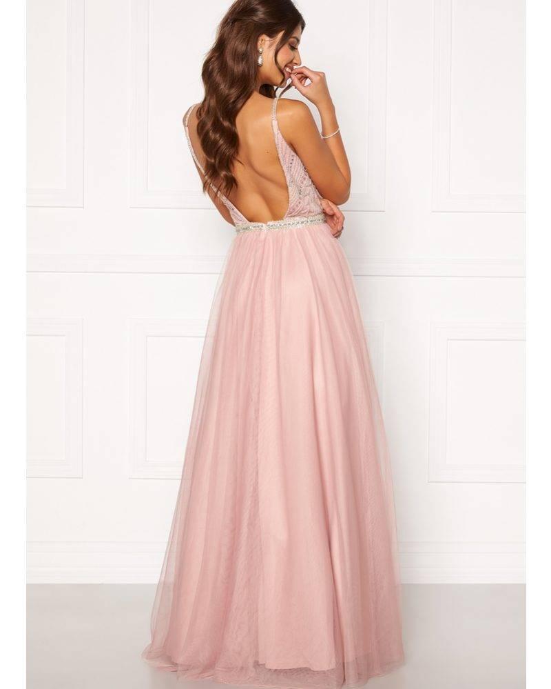 Rosa maxiklänning med tyllkjol