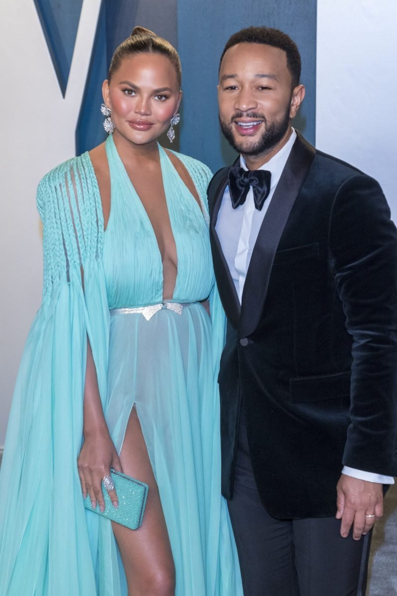 Chrissy Teigen och John Legend på Vanity Fair efterfest