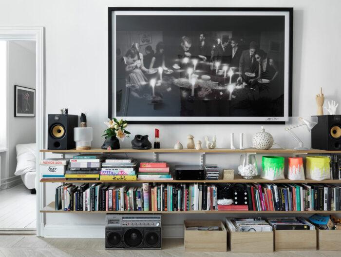 存放在斯德哥尔摩Södermalm时装设计师的客厅