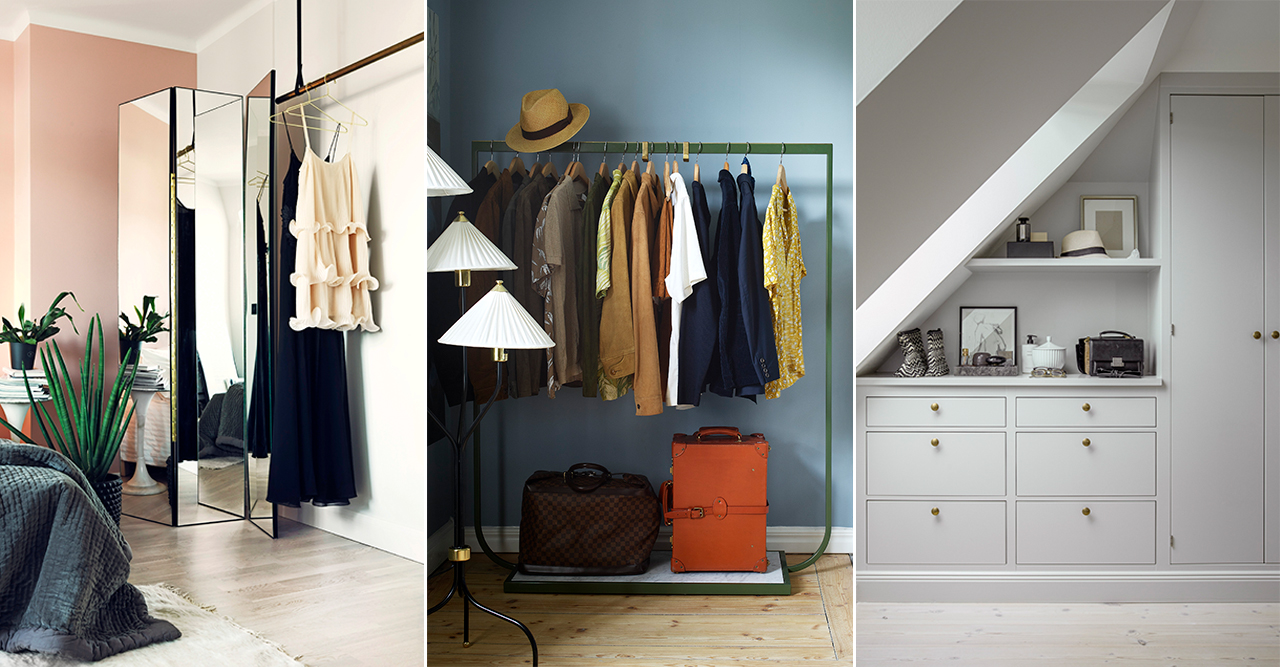 tips och knep för en lyxig garderob och klädförvaring