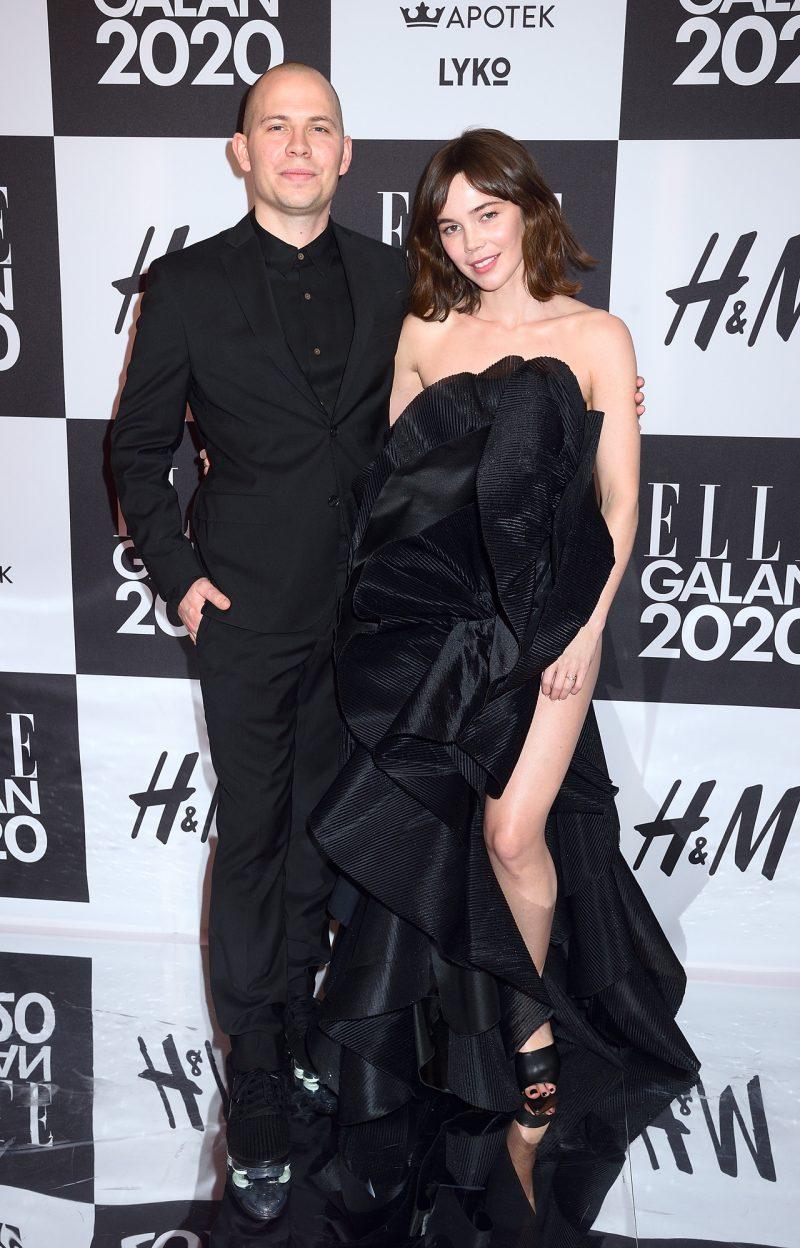 Hedda med pojkvännen Alexis Almström på ELLE-galan 2020