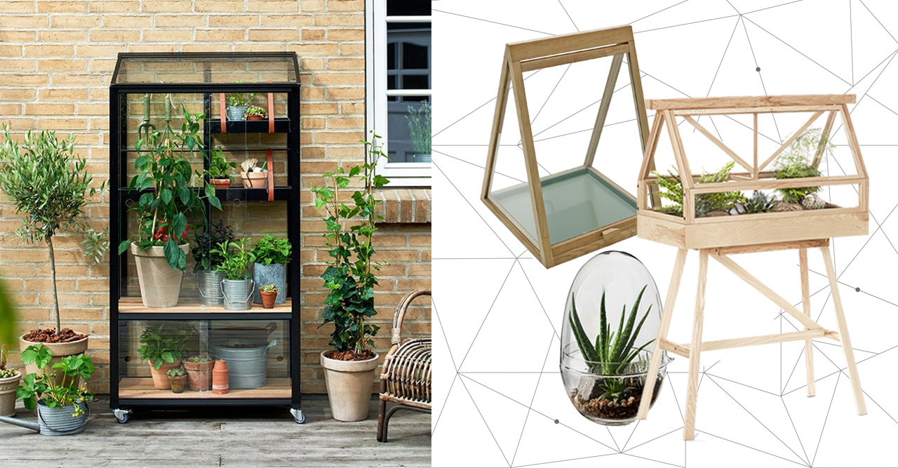 små växthus och miniväxthus till balkong och uteplats