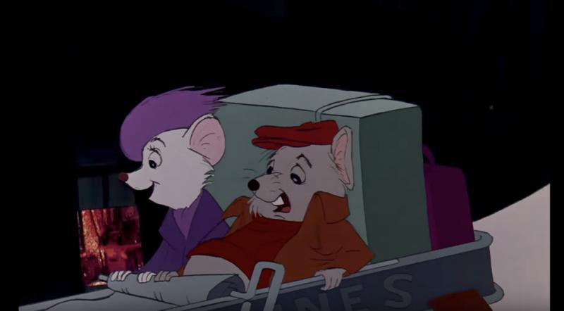 Bernard och Bianca sitter i en konservburk