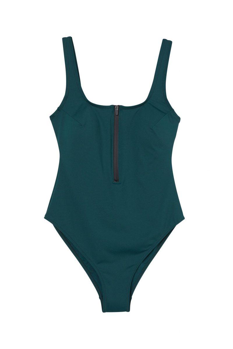 H&M har släppt surfkollektion: Mörkgrön baddräkt