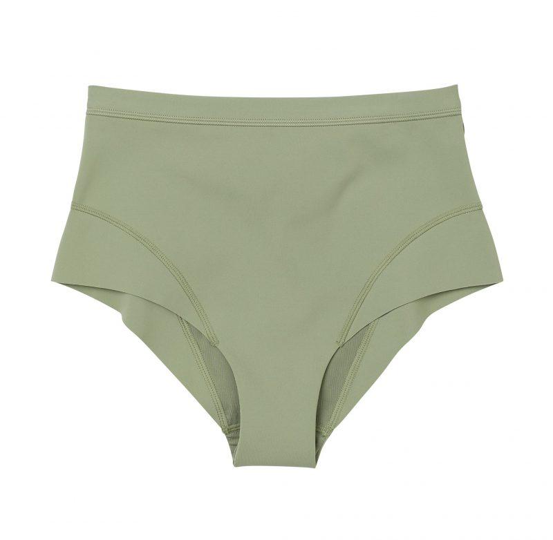 H&M har släppt surfkollektion: grön bikiniunderdel med hög midja