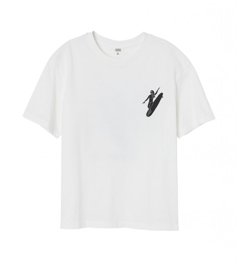 H&M har släppt surfkollektion: Vit t-shirt