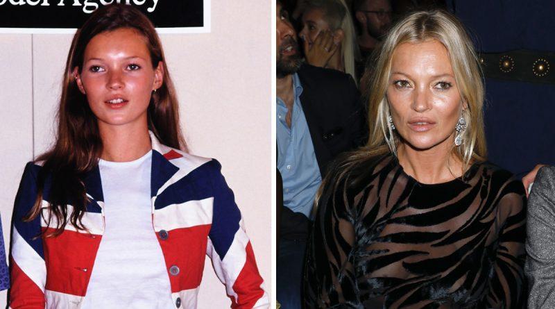 Kate Moss då och nu