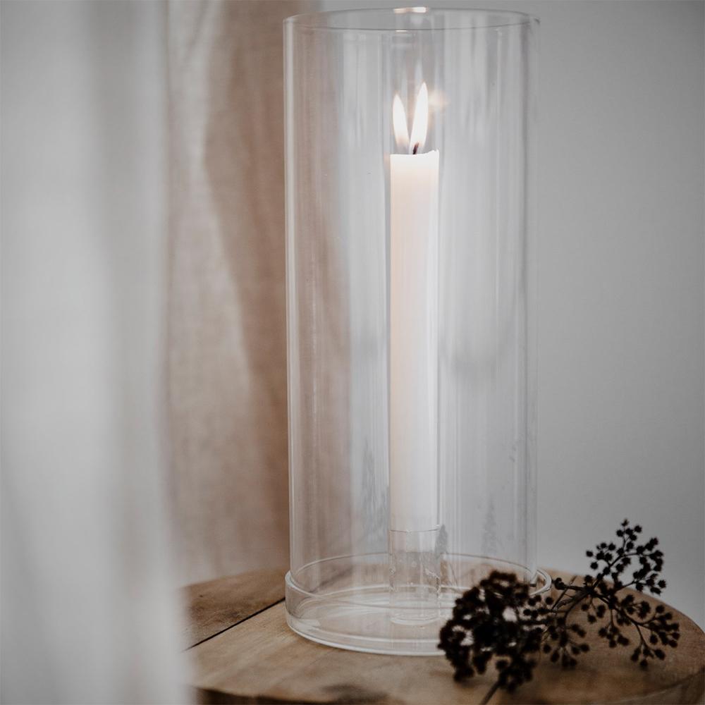 ljusstake i glas från ernst
