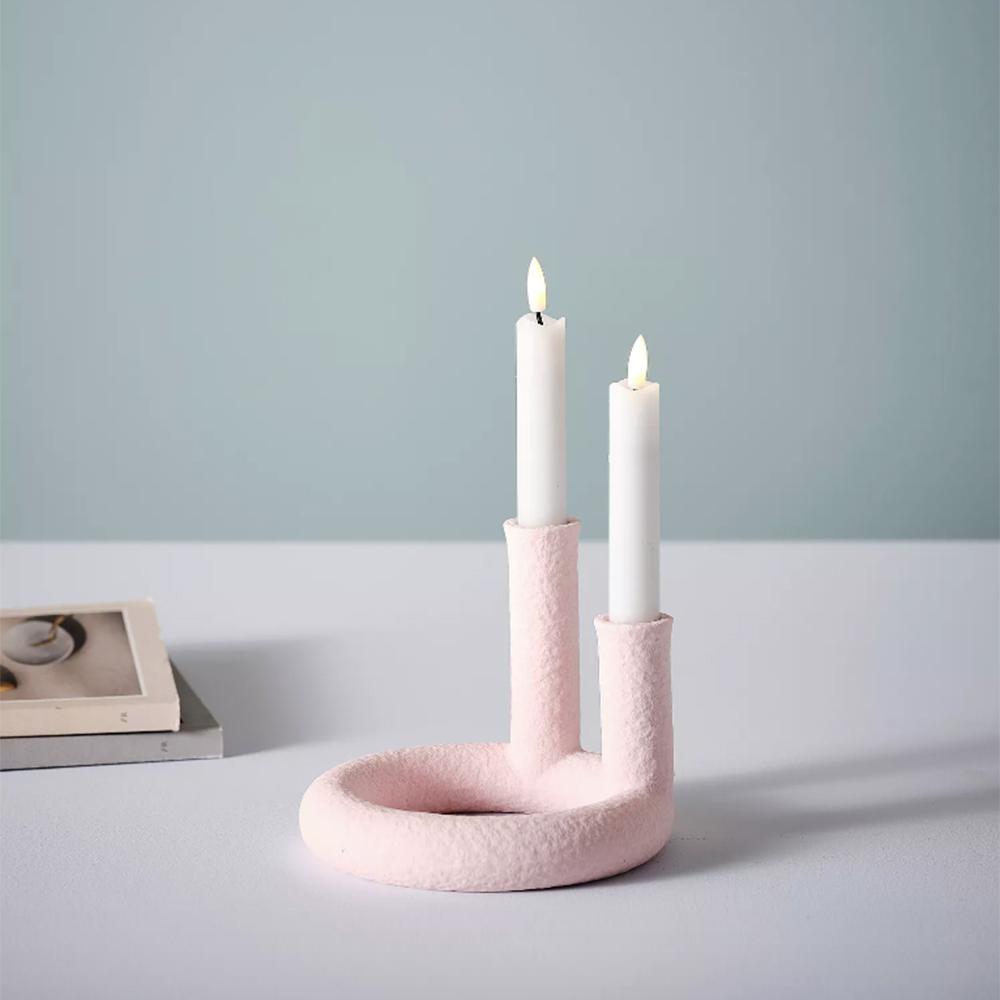 rosa ljusstake från jotex